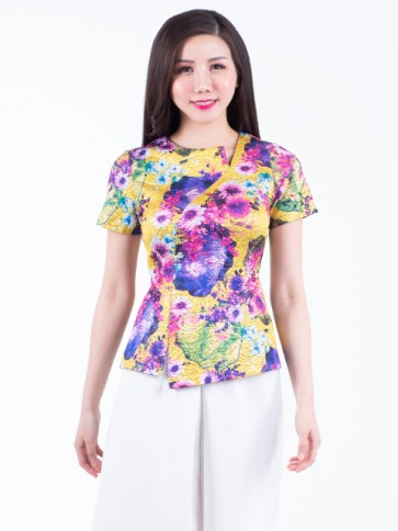 Yellow Floral Top- T36864