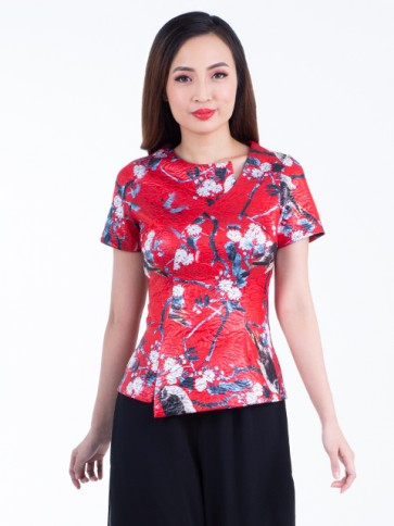 Red Floral Top- T36868