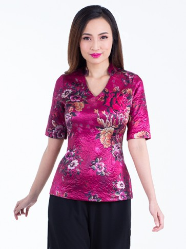 Red Floral Top- T37437