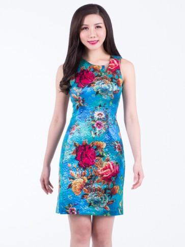 Floral Short Dress - D37470