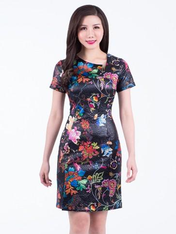 Floral Short Dress - D37471