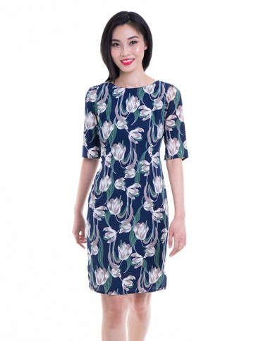 Floral Print Sheath Dress- D37689