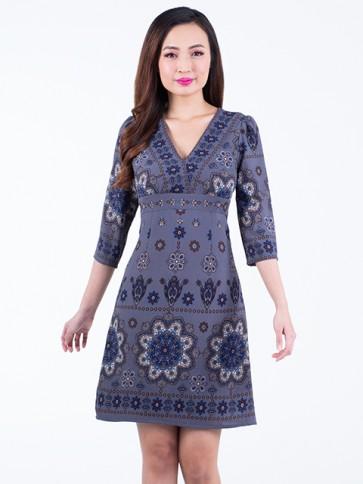 Floral Print Short Dress- D38240