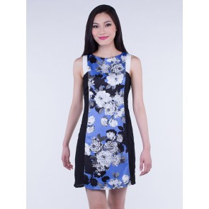 Sleeveless Floral Dress - D36269
