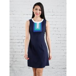 Navy Blue A-Line Dress - D36297