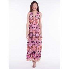 Pink Tribal Maxi Dress - D36496