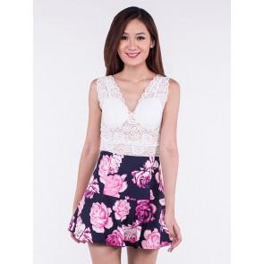 Floral Mini Skirt - B36548