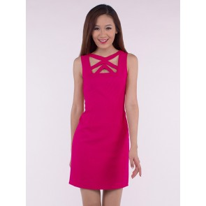 Sleeveless Cut Out Short Dress - D36565