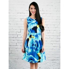 Abstract Rose Print Dress - D36745