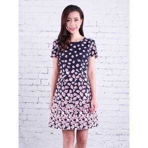 Floral Print Dress - D36795