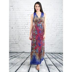 Ethnic Floral Print Maxi Dress - D36945