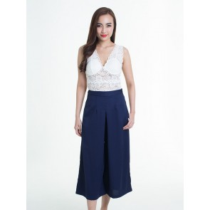 High Waist Wide Leg Pants - B37039
