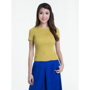 Short Sleeve Pleated Top - T37040