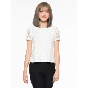 White Lace Top - T37077