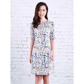 Floral Print Dress - D37118