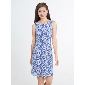 Sleeveless Lace Dress - D37165