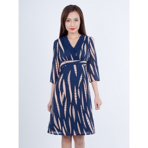 Abstract Print Dress - D37192
