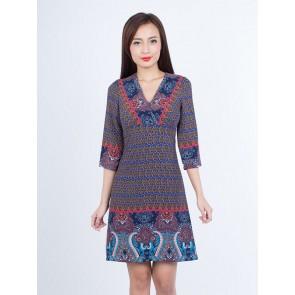 Ethnic Print Dress - D37275