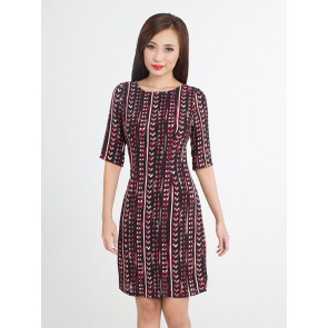 Heart and Ribbon Print Dress - D37367