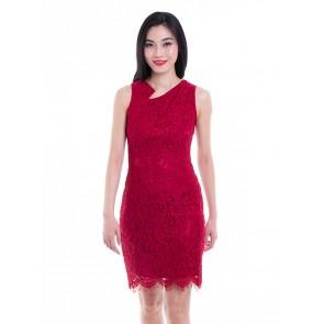 Red Lace Short Dress -D37457