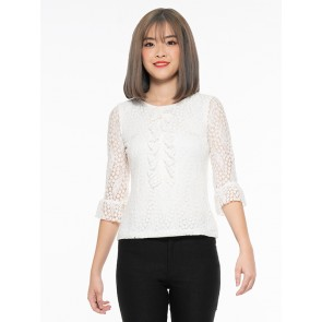 White Lace Top - T37575
