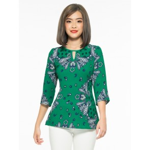 Green Printed Top- T38388
