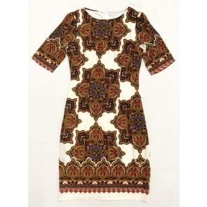 Ethnic Print Short Dress- D38664