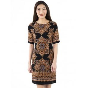 Ethnic Print Short Dress- D38784
